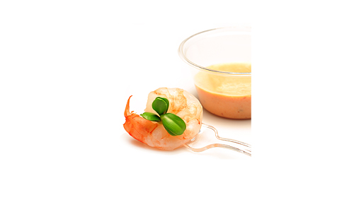 Crevette grillée à l'ail sauce napoléon